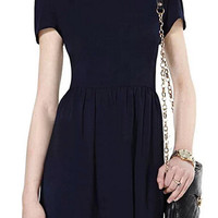 ROMWE Dual-tone A-line Little Black Dress
