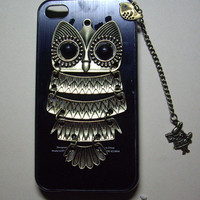 SILVER owl flower Case iPhone 4 Case iphone by sweethearteverybody