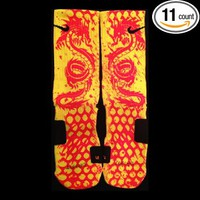 Kobe 9 Low Bruce Lee Custom Nike Elite Socks Size Large fits shoe size 8-12