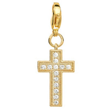 Origami Owl Crystal Golden Cross Dangle Floating Living Locket Chains Charms A01