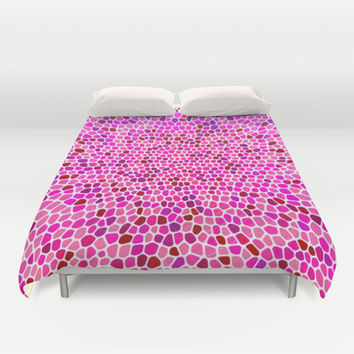 THINK PINK Duvet Cover by Catspaws | Society6