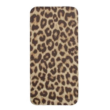 Leopard Pattern Fabric Apple iPhone 5 Pouch Case