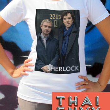 Sherlock Womens T Shirt - Detective Horror Crime Movie T Shirts