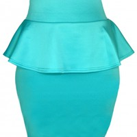 Mint Peplum Skirt