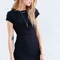 Silence + Noise Textured Ponte Knit Mini Dress - Urban Outfitters