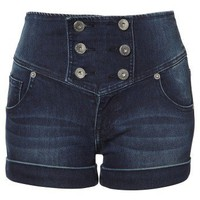 Lipsy High Waist Button Shorts - Lipsy