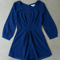 Navy Union Square Romper [5864] - $38.00 : Vintage Inspired Clothing & Affordable Dresses, deloom | Modern. Vintage. Crafted.