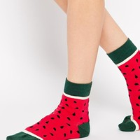 ASOS Watermelon Ankle Socks