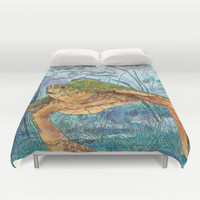 Shelley Blue Duvet Cover by Catherine Holcombe | Society6