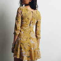 Free People Womens Key to My Heart Fit and Flare - Amber Combo,