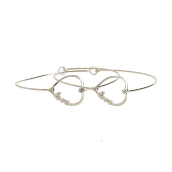 Heart Love Bracelet 2-Pack