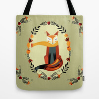 Autumn Fox Tote Bag by Rebecca S. Czosnek