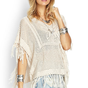 Butterfly Open-Knit Poncho