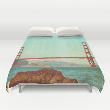 The City  Duvet Cover by DuckyB (Brandi)
