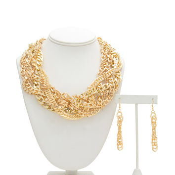 Metal Display Chain Necklace Set