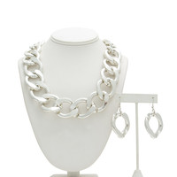 Chunky Chain Link Necklace Set