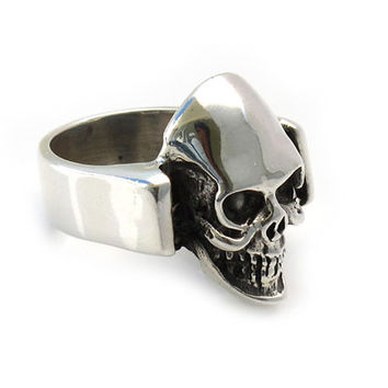 Skull Sterling Silver Ring | Skull silver ring | Heavy rings | Man rings | 925 | Handcrafted on demand | Sterling Silver Rings Shop | 0229