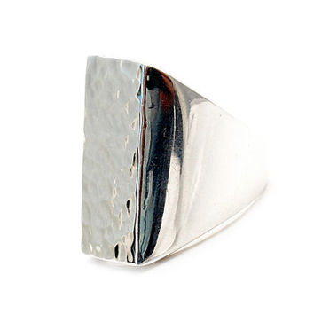 Heavy Sterling Silver Ring | Perfection | Solid | Elegant Rings | Luxury silver jewelry | Water mirror front | Smooth Finish | 925 | 0192