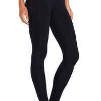 So Low Legging with Lace in Black