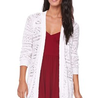 LA Hearts Open Oversized Cardigan - Womens Sweater - White -