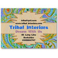Tribal Interiors 3 Profile Card Business Card Template from Zazzle.com