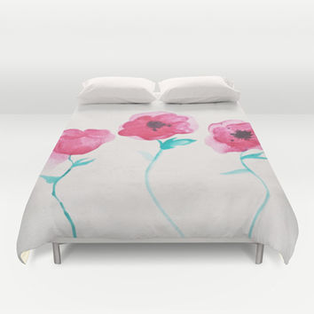 Asian Poppies Duvet Cover by DuckyB (Brandi)