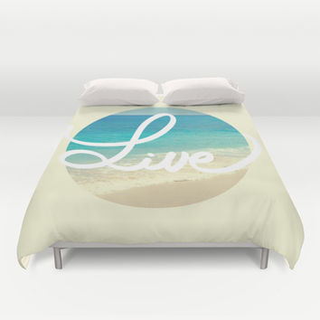 Live Duvet Cover by Ashley Hillman