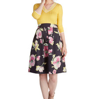 ModCloth 50s A-line Painted Perfection Skirt