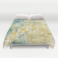 Buttons  - JUSTART ©, digital art Duvet Cover by JUSTART  * Syl *
