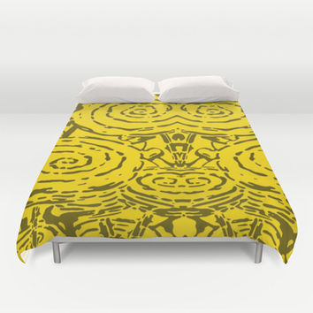 Roses - yellow duvet cover by Hogan Finland.