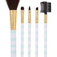 Candy Striped Cosmetic Brush Set