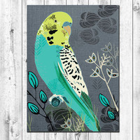 Tourquoise Budgie Notebook