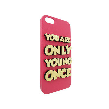 You Only Young Once  Wood Typography For Iphone 5, Iphone 4/4s