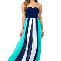 Verty Block Maxi Dress
