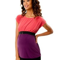 Motherhood Maternity: Short Sleeve Boat Neck Babydoll Maternity Tunic