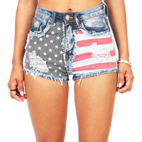 American Wasteland High Waist Shorts | Denim Shorts at Pink Ice