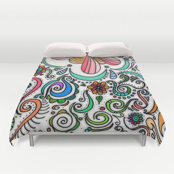 Color Celebration Duvet Cover by DuckyB (Brandi)