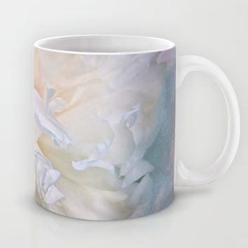 Abstract Peony in Blue Mug by Jai Johnson