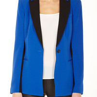 Colour Blocked Peak Lapel Jacket by DKNY