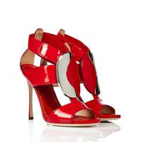 Sergio Rossi - Patent Leather Shield Stiletto Sandals