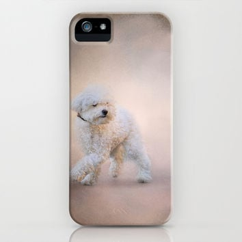 On the Go - Bichon Frise iPhone & iPod Case by Jai Johnson