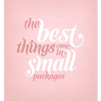 $16.00 Small Packages Art Print // 8x10 (Pink or Blue) by wickedpaper