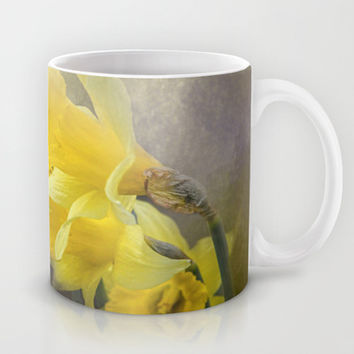 Out of the Darkness - Daffodil Flowers Mug by Jai Johnson