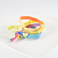 Mulit Coloured Elastic Bracelet/Hair Band