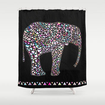 Elephant Shower Curtain by Ornaart