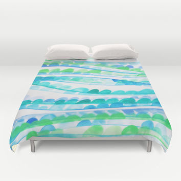 Sea Festival Duvet Cover by DuckyB (Brandi)