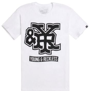 Young & Reckless Honorable Discharge T-Shirt - Mens Tee - White -