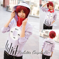 Unisex Kagerou Project Tsubomi Kido Anime Music coat Jacket Hoodie Cosplay Hoody