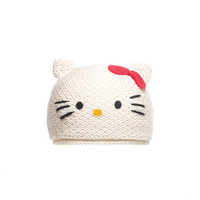 knitwits - Hello Kitty Women's Cotton Beanie, White