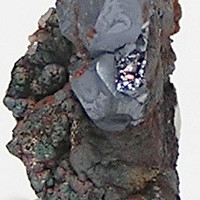 Cuprite on Native Copper Ray Mine Arizona Thumbnail Mineral Specimen